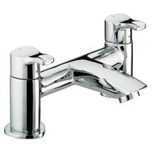 Bristan Capri Contemporary Pillar Bath Filler - Chrome - CAP-BF-C Medium Image