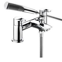 Bristan Capri Contemporary Pillar Bath Shower Mixer - Chrome - CAP-BSM-C Medium Image