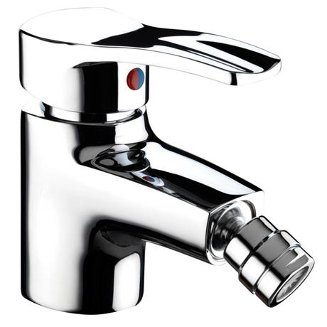 Bristan Capri Contemporary Bidet Mixer with Pop-up Waste - Chrome - CAP-BID-C