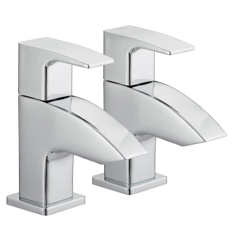 Bristan Curvare Contemporary Bath Taps - Chrome - CV-3/4-C Large Image