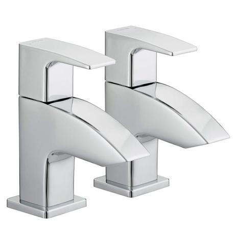 Bristan Curvare Contemporary Basin Taps - Chrome - CV-1/2-C