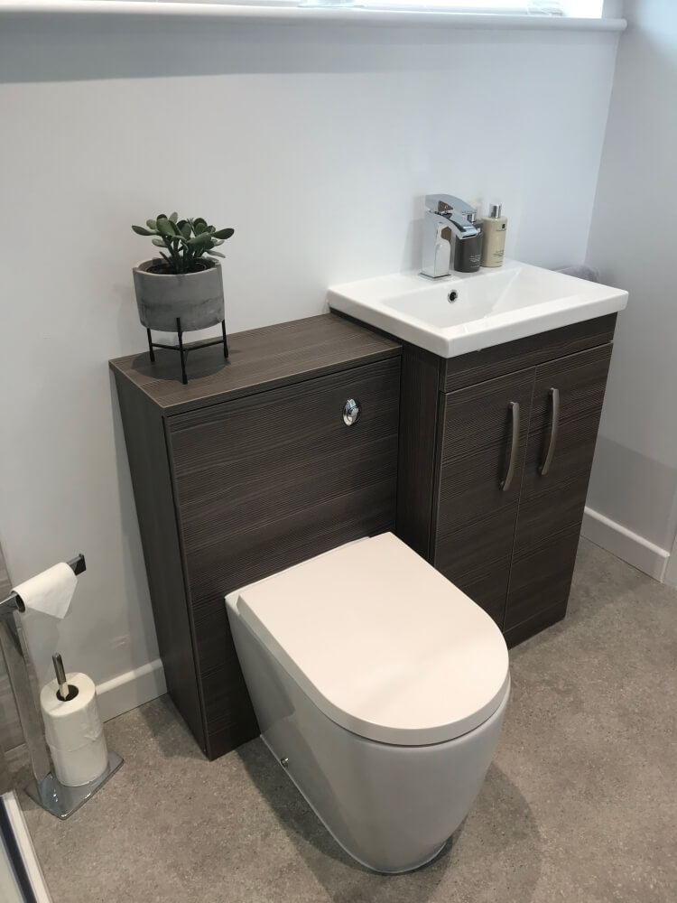 Sarah's compact vanity and WC units