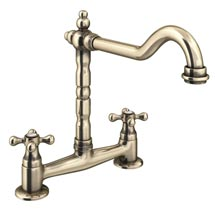 Britannia Classic Bridge Sink Mixer - Antique Bronze Medium Image