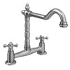 Britannia Classic Bridge Sink Mixer - Brushed Nickel Small Image