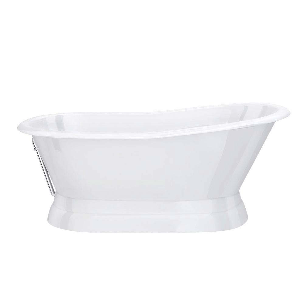 Brittany 1700 x 780mm Single Ended Roll Top Cast Iron Bateau Bath  Feature Large Image