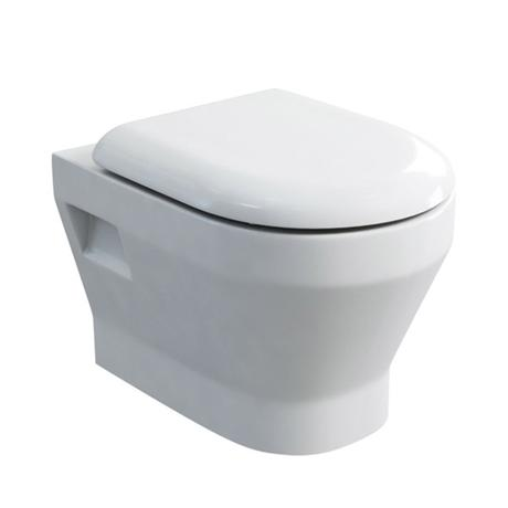 Britton Bathrooms - Curve Wall hung WC with soft close seat