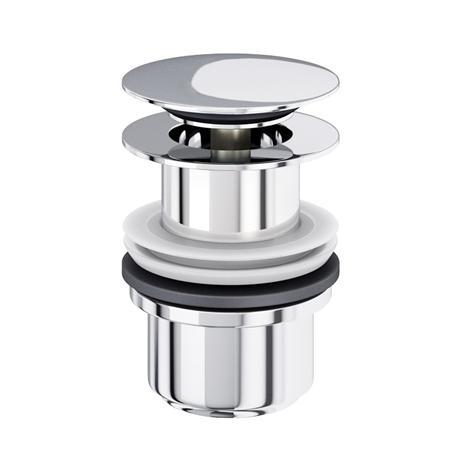 Britton Bathrooms - Basin Click-Clack Waste (unslotted) - Chrome plated