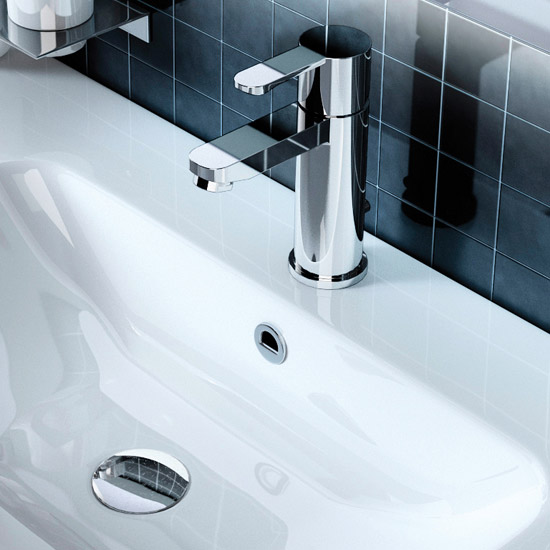 Britton Bathrooms - Crystal basin mixer with pop up waste - CTA2 Profile Large Image