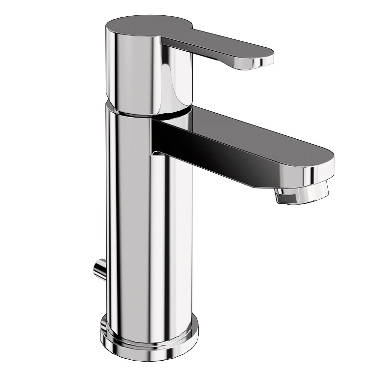 Britton Bathrooms - Crystal basin mixer with pop up waste - CTA2 Large Image