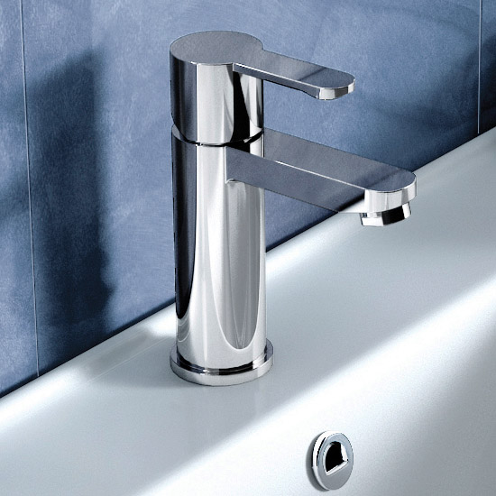 Britton Bathrooms - Crystal basin mixer without pop up waste - CTA1 Profile Large Image
