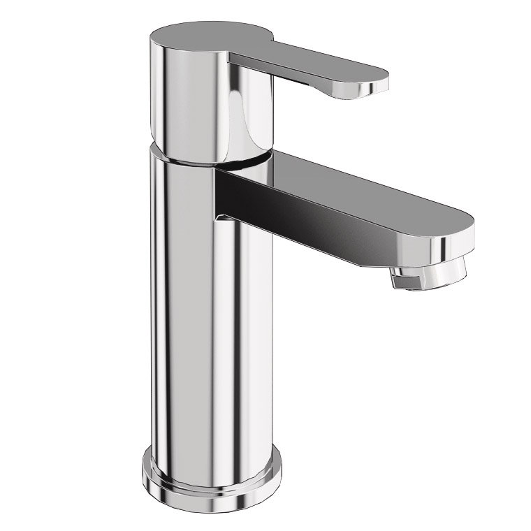 Britton Bathrooms - Crystal basin mixer without pop up waste - CTA1 Large Image