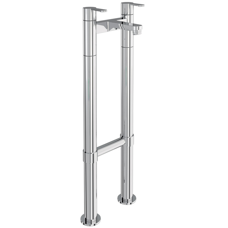 Britton Bathrooms - Crystal bath filler with floor standing - CTA6 & W23 Large Image