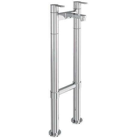 Britton Bathrooms - Crystal bath filler with floor standing - CTA6 & W23