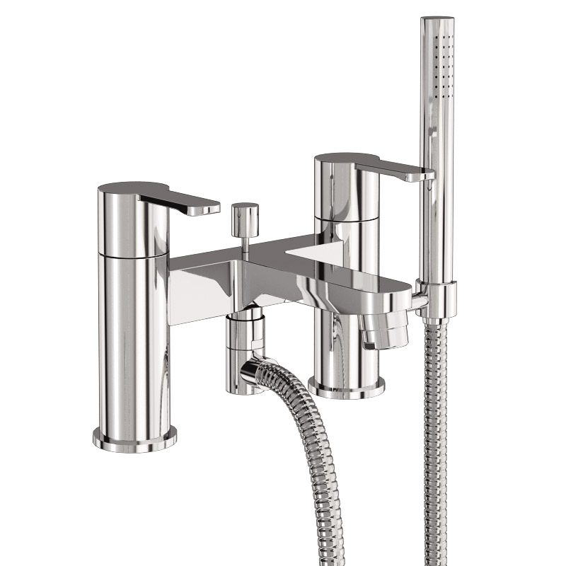 Britton Bathrooms - Crystal bath shower mixer - CTA7 profile large image view 1