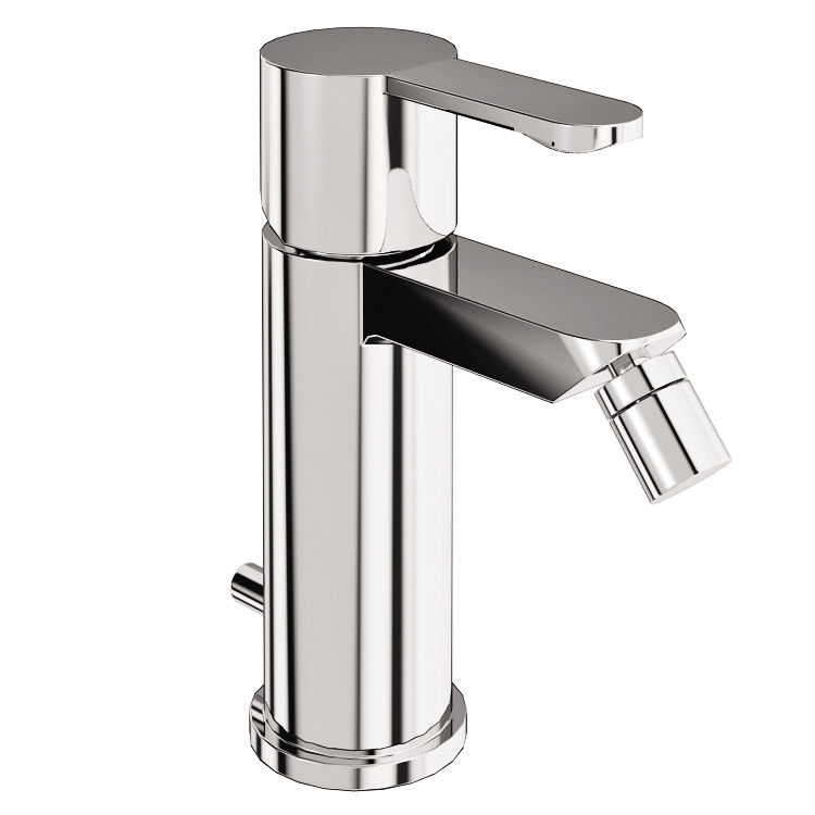 Britton Bathrooms - Crystal bidet mixer with pop up waste - CTA4 Large Image