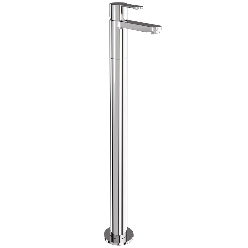 Britton Bathrooms - Crystal floor standing single lever bath filler - CTA5 & W24 Large Image
