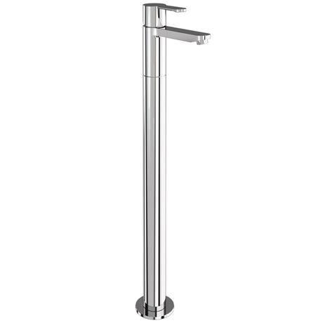 Britton Bathrooms - Crystal floor standing single lever bath filler - CTA5 & W24