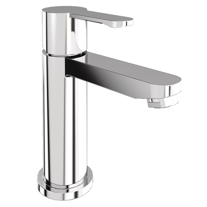 Britton Bathrooms - Crystal mini basin mixer without pop up waste - CTA8 Large Image