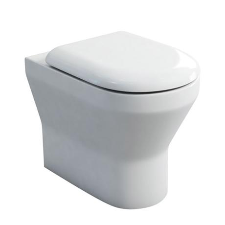 Britton Bathrooms - Curve Back to wall WC with soft close seat