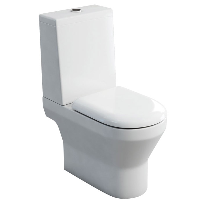 Britton Bathrooms - Curve S30 Close Coupled WC with Cistern & Soft Close Seat (Open Back)