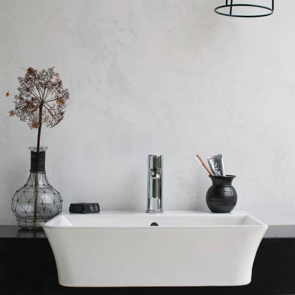 Britton Bathrooms Fine S40 Semi Recessed Basin 55cm - 40.6610  Feature Large Image