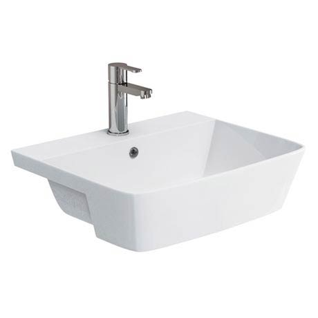 Britton Bathrooms Fine S40 Semi Recessed Basin 55cm - 40.6610