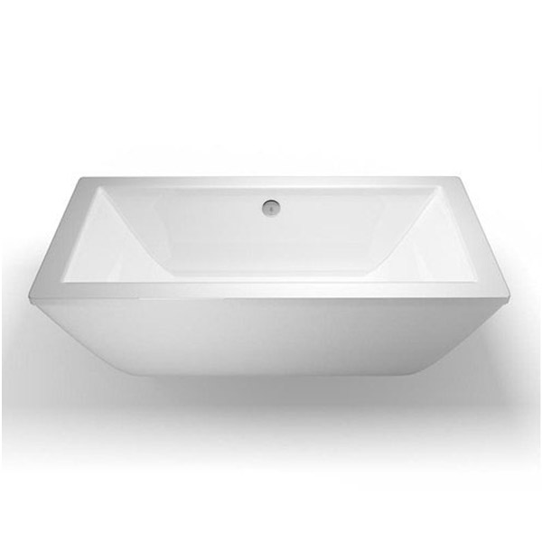 Cleargreen - Freefortis Double Ended Freestanding Bath & Surround - 1800 x 800mm Feature Large Image
