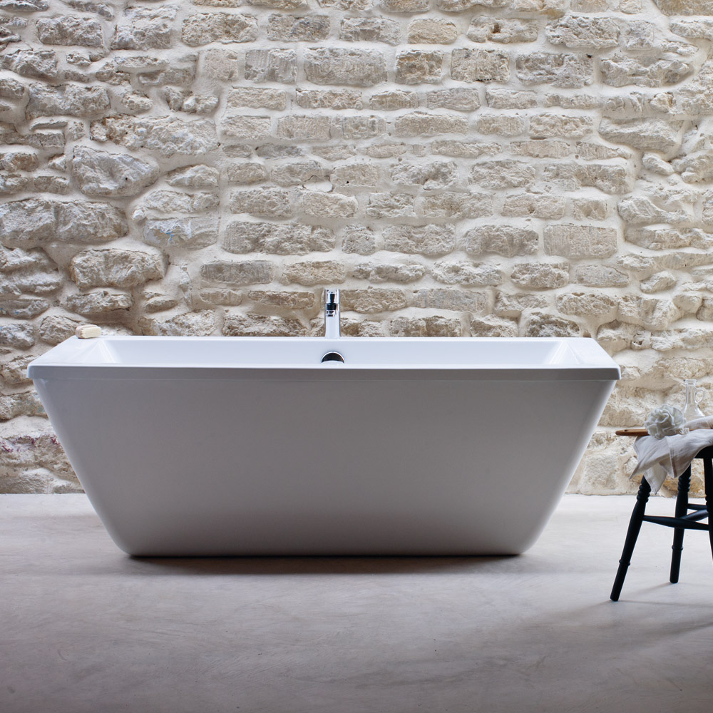 Cleargreen - Freefortis Double Ended Freestanding Bath & Surround - 1800 x 800mm Large Image