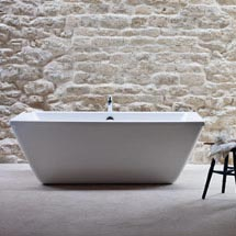 Cleargreen - Freefortis Double Ended Freestanding Bath & Surround - 1800 x 800mm Medium Image