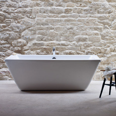 Cleargreen - Freefortis Double Ended Freestanding Bath & Surround - 1800 x 800mm