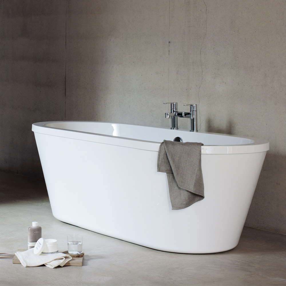 Cleargreen - Freestark Double Ended Freestanding Bath & Surround - 1740 x 800mm Large Image