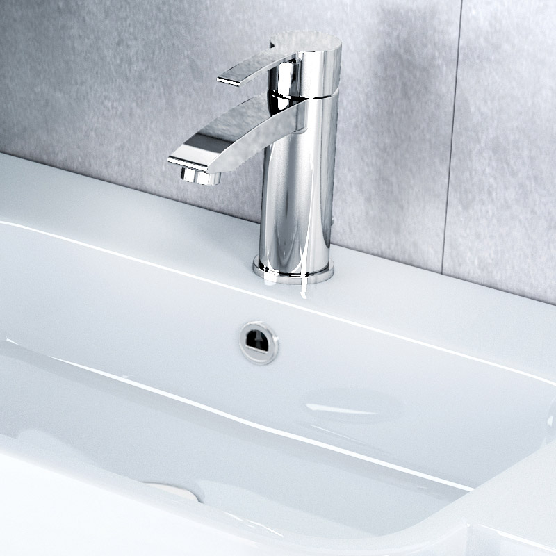 Britton Bathrooms - Sapphire basin mixer with pop up waste - CTA11 Profile Large Image
