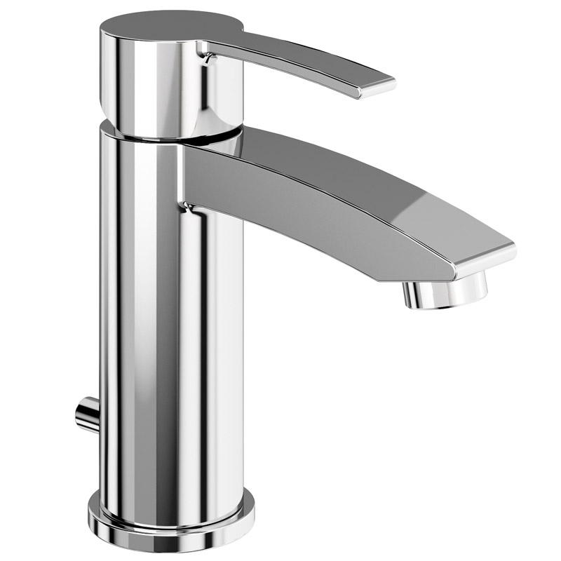 Britton Bathrooms - Sapphire basin mixer with pop up waste - CTA11 Large Image