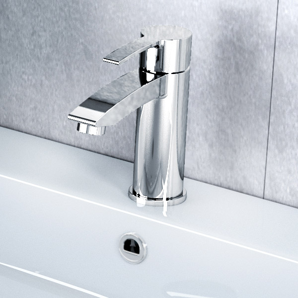 Britton Bathrooms - Sapphire basin mixer without pop up waste - CTA9 profile large image view 2