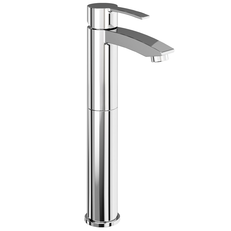 Britton Bathrooms - Sapphire tall basin mixer without pop up waste - CTA12 Large Image