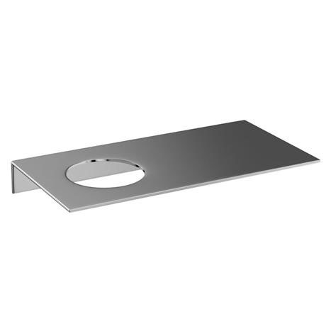 Britton Bathrooms - stainless steel shelf - offset hole - BR6