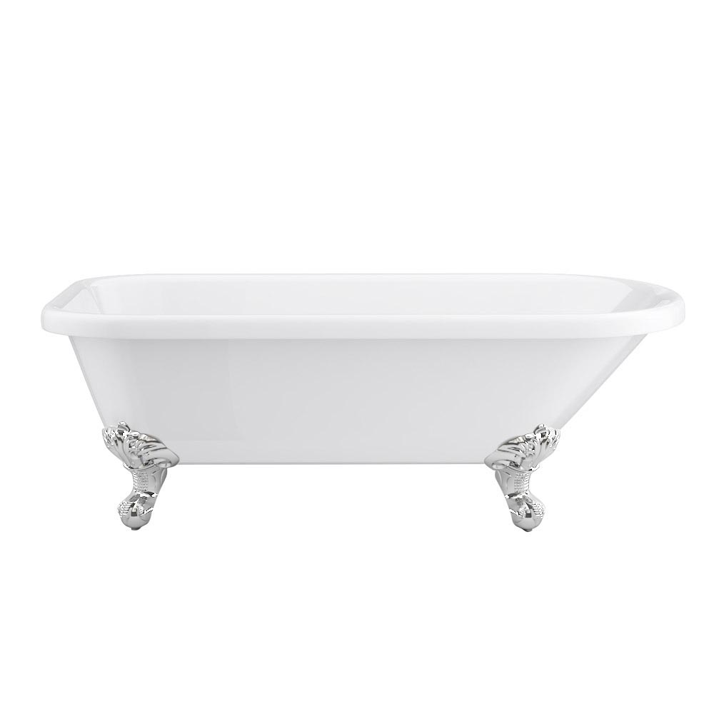 Bromley 1780 Single Ended Roll Top Bath + Chrome Leg Set profile large image view 2