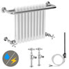 Bromley Traditional Wall Hung Towel Rail Radiator (Inc. Valves + Electric Heating Kit) profile small image view 1