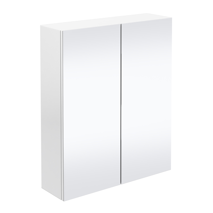 Brooklyn Bathroom Mirror Cabinet - 2 Door - White Gloss - 600mm Large Image