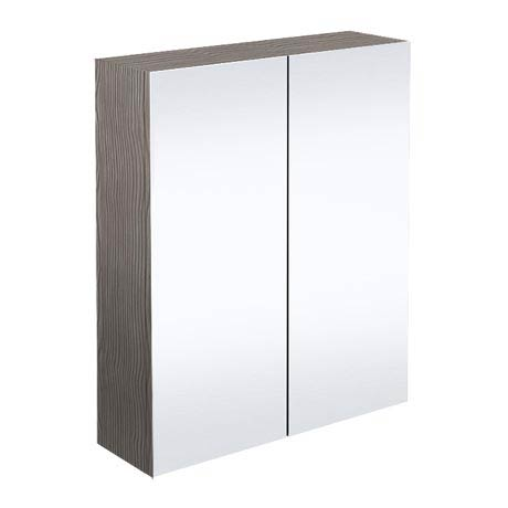 Brooklyn Bathroom Mirror Cabinet - 2 Door - Grey Avola - 600mm