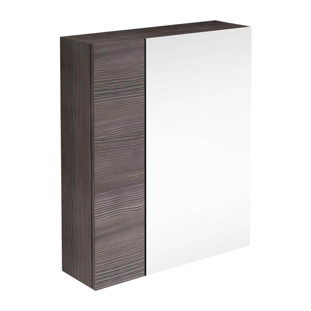 Brooklyn Bathroom Mirror & Fascia Cabinet - Grey Avola - 600mm Large Image