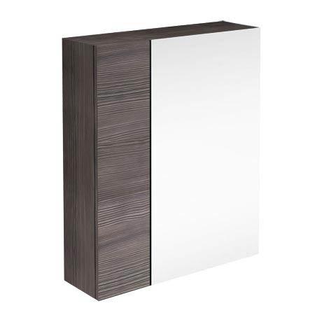 Brooklyn Bathroom Mirror & Fascia Cabinet - Grey Avola - 600mm