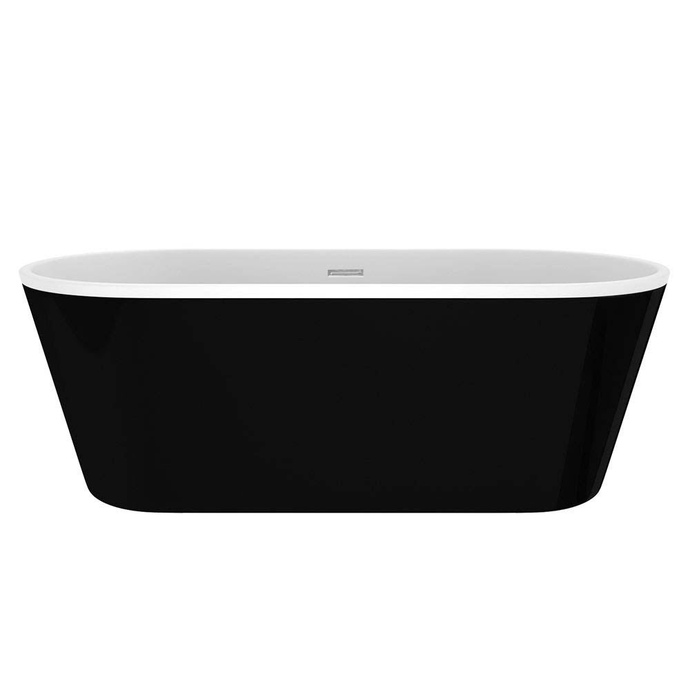 Windsor Brooklyn Black 1690 x 790mm Double Ended Freestanding Bath profile large image view 3