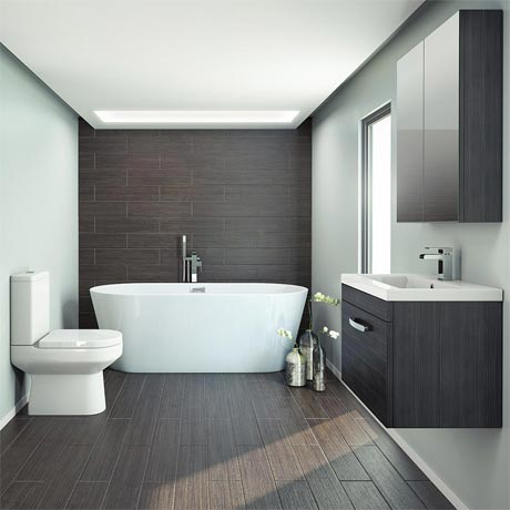 Brooklyn Black Free Standing Bath Suite
