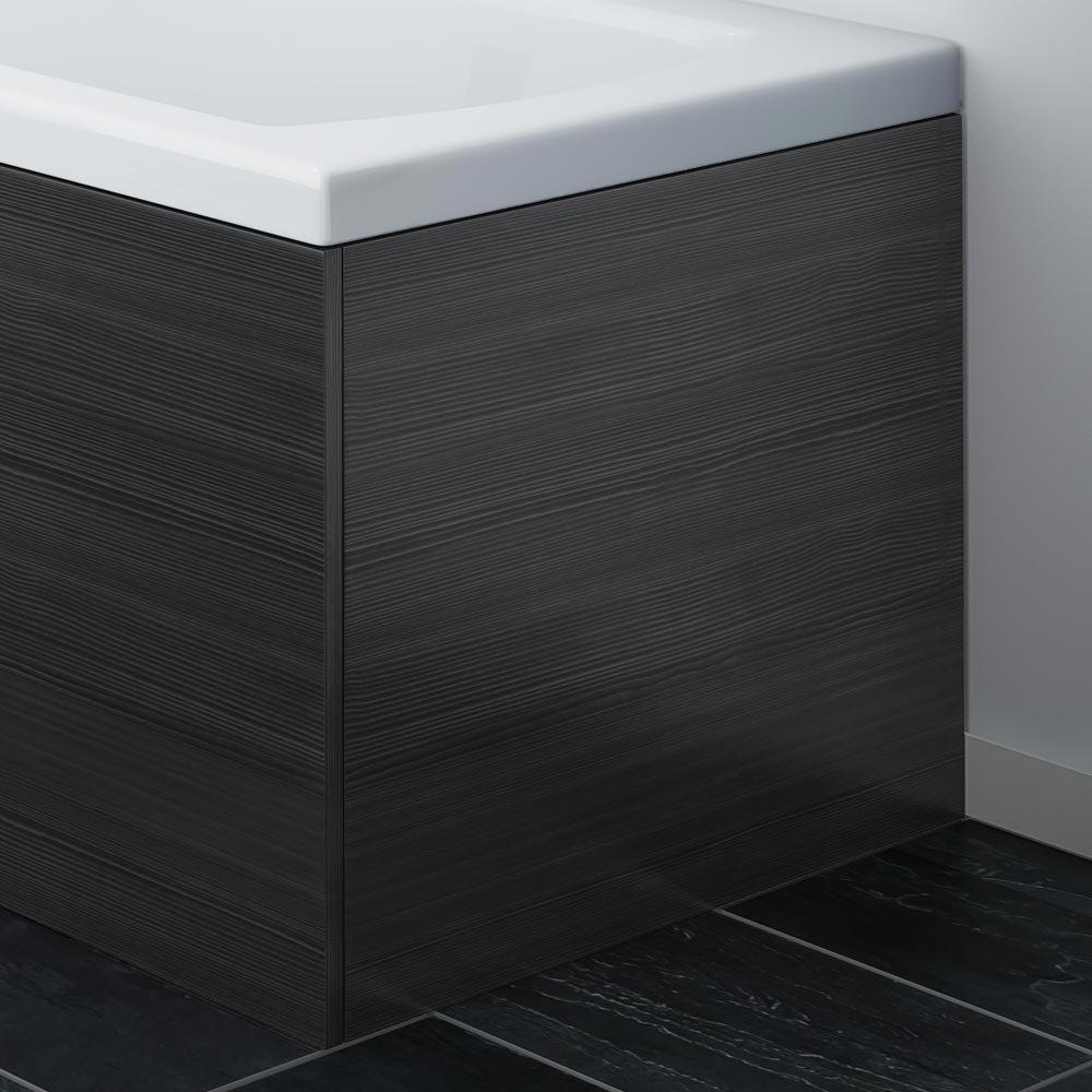 Brooklyn Black End Bath Panel for 1700mm L-Shaped Baths - MPD631