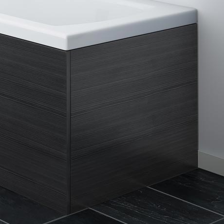 Brooklyn Black MDF End Bath Panel - MPD631