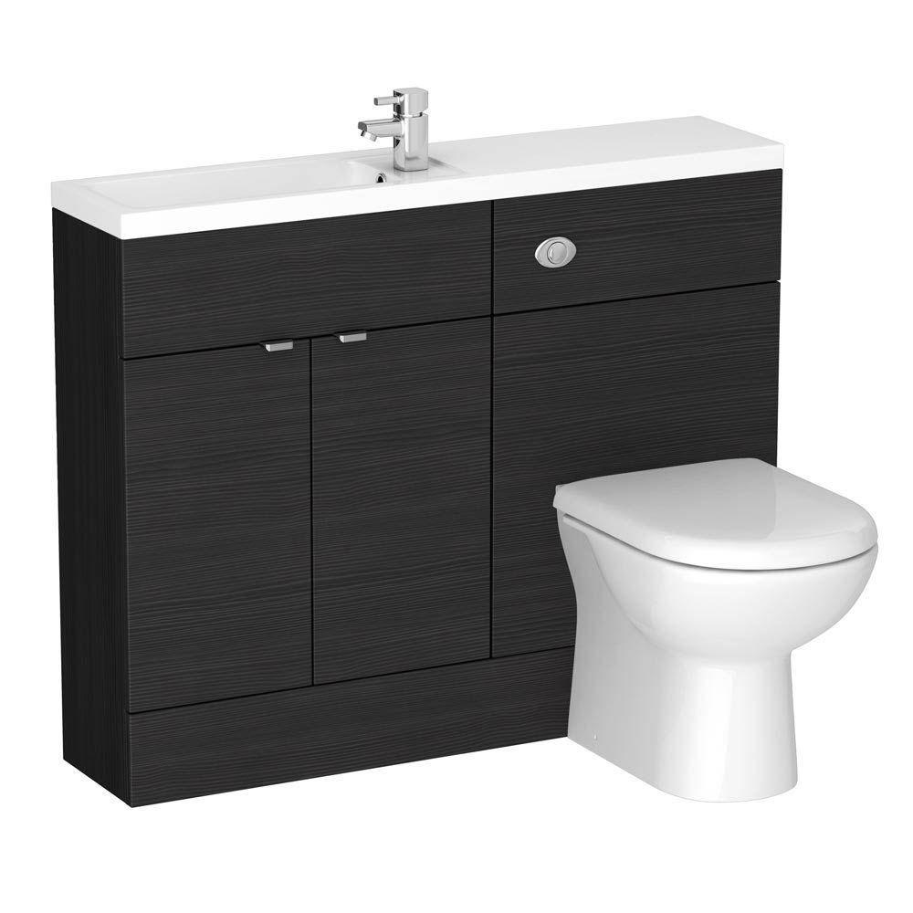 Brooklyn Black Slimline Combination Furniture Pack - 1100mm Wide  Feature Large Image