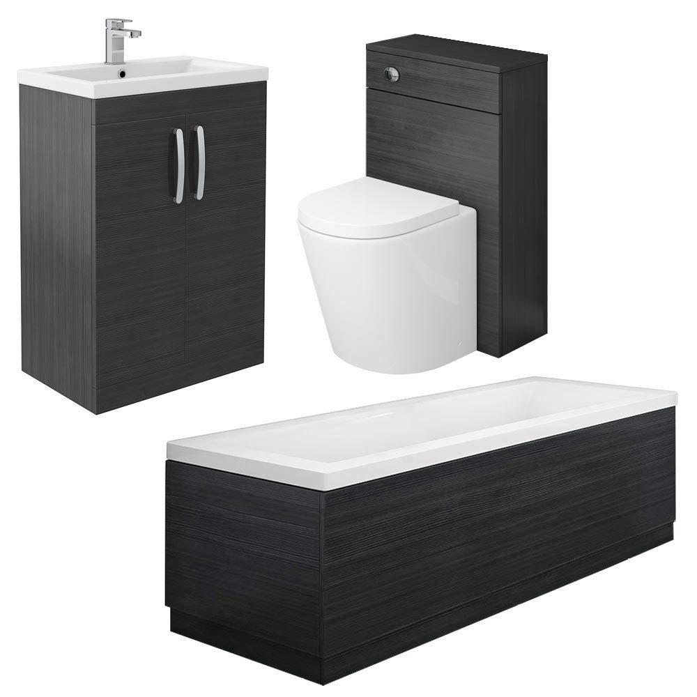 Brooklyn Black Vanity Bathroom Suite Large Image