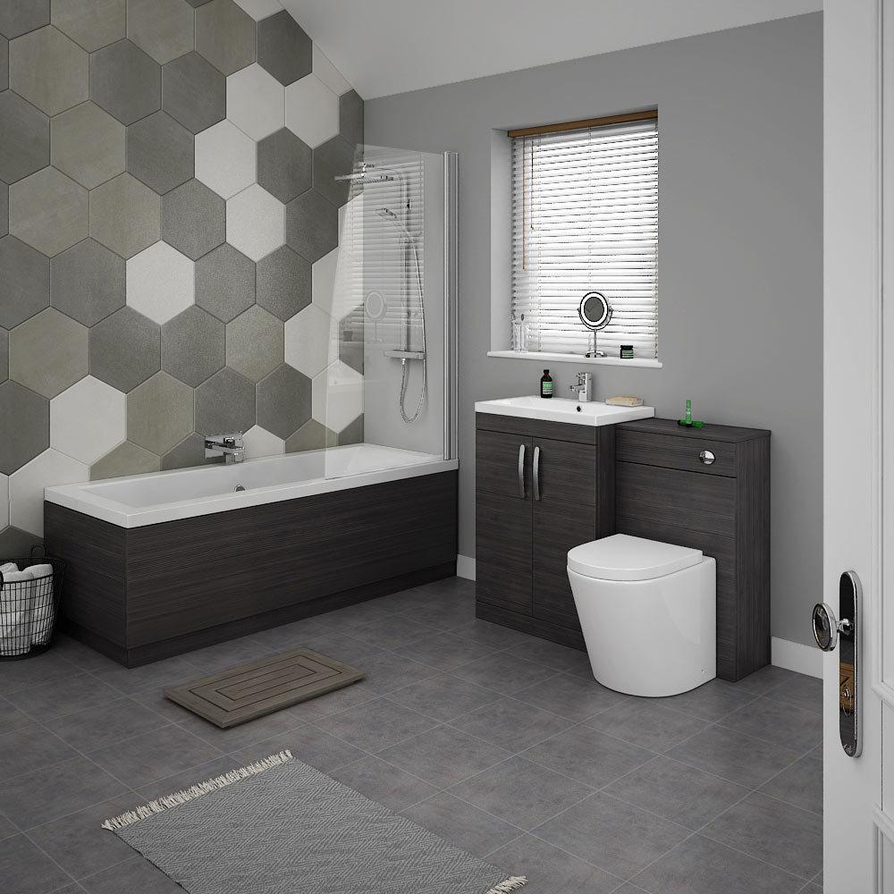 Brooklyn Black Vanity Bathroom Suite At Victorian Plumbing UK