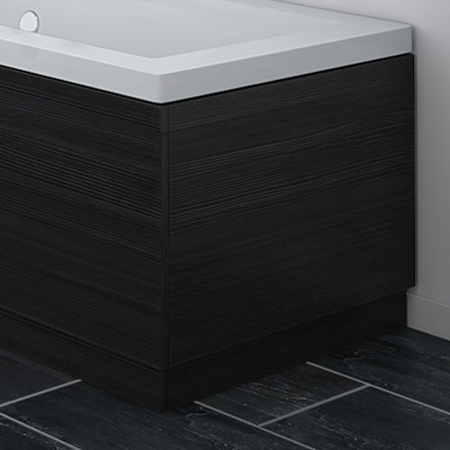 Brooklyn Black Wood Effect End Bath Panels - Various Sizes profile large image view 1